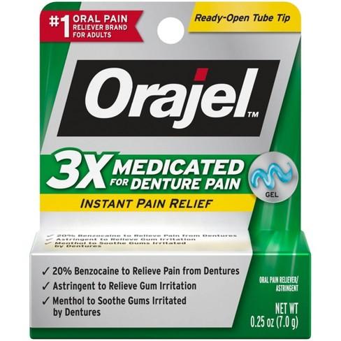 Orajel 3X Medicated For Denture Pain Gel - 0.25oz - image 1 of 3