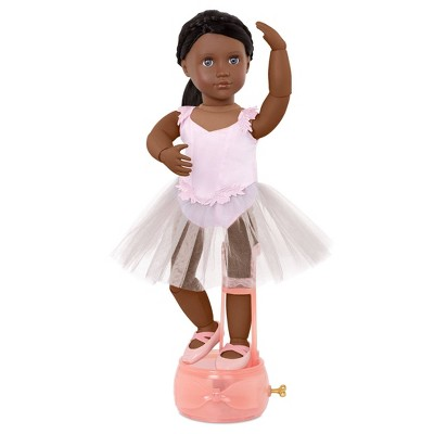 """Our Generation 18"""" Ballerina Doll with Movable Joints & Music Box Stand - Shayla"""