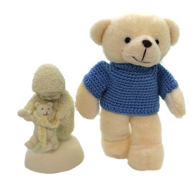 Dept 56 Snowbabies Baby Bear Steps Baby Boy Teddy Bear  -  Decorative Figurines