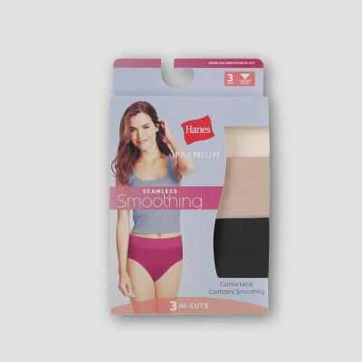 Hanes® Premium Women's Smoothing Seamless 3pk Basic High Cut Briefs - Colors May Vary