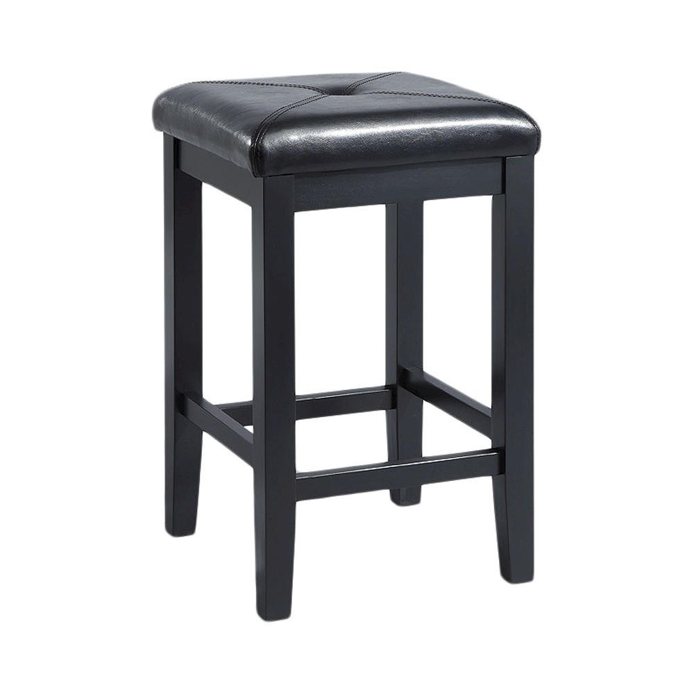 "Image of ""24"""" Square Counter Stool Black (Set of Two) - Crosley"""