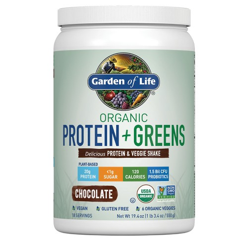 Garden of Life Organic Protein + Greens Shake Mix - Chocolate - 19.4oz - image 1 of 3