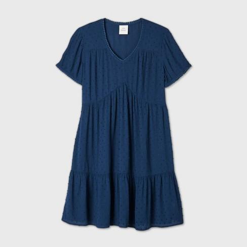 Women's Short Sleeve Clip Dot Dress - Knox Rose™ - image 1 of 4