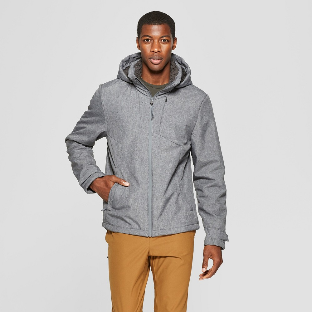 Men's Sherpa Hooded Softshell Jacket - C9 Champion Charcoal Grey L