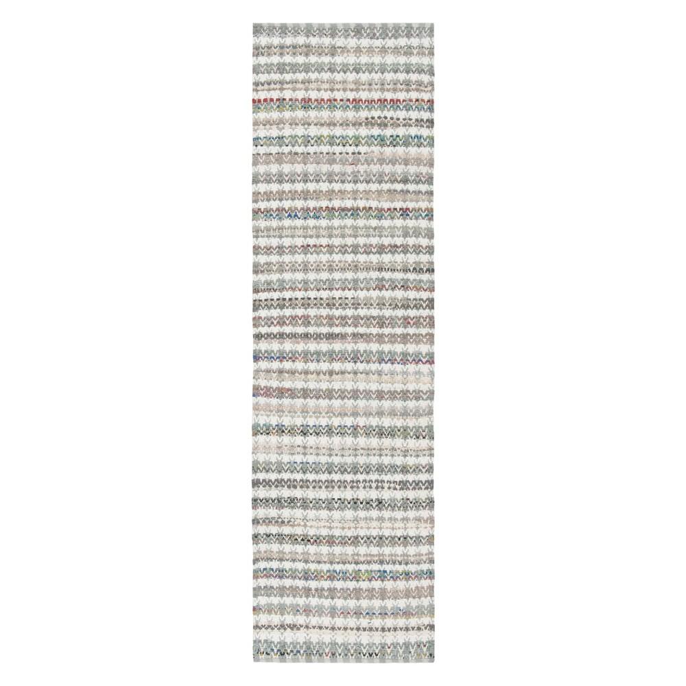 Gray Stripe Woven Runner 2'3X8' - Safavieh