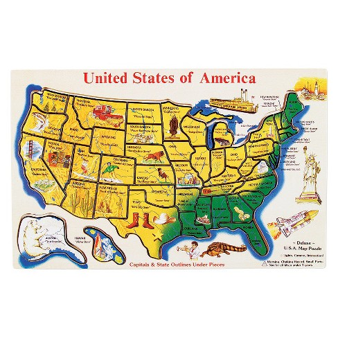 USA Map 45pc Wood Puzzle : Target
