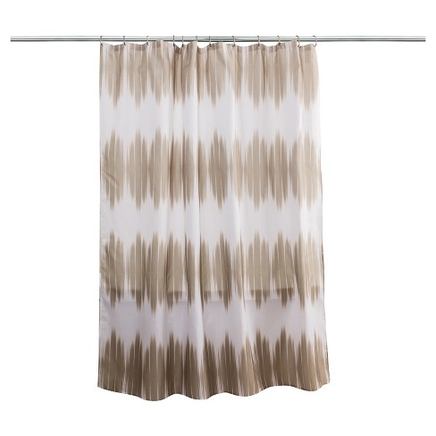 Chevron Shower Curtain Island Beige