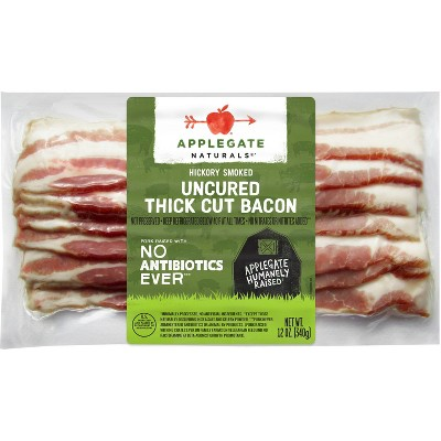 Applegate Natural Hickory Smoked Uncured Thick Cut Bacon - 12oz