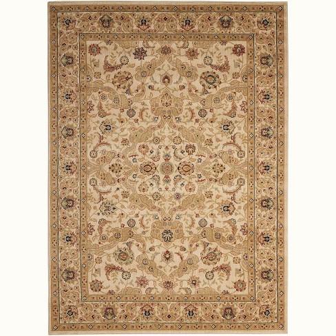 3 6 X5 6 Rectangle Loomed Wool Area Rug Beige Kathy Ireland Home Target