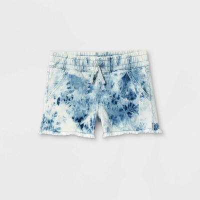 Girls' Tie-Dye Pull-On Jean Shorts - Cat & Jack™ Blue