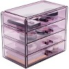 Sorbus Makeup and Jewelry Storage Case Display - 4 Large Drawers - image 4 of 4