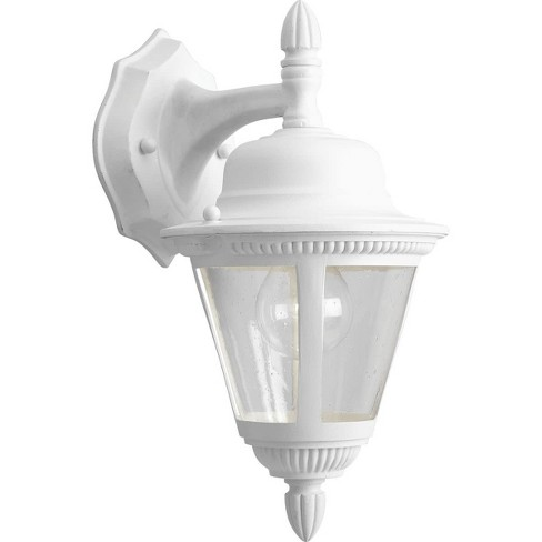 Progress Lighting P5862 Westport 1 Light 13 Tall Outdoor Wall Sconce With Clear Seeded Gl White