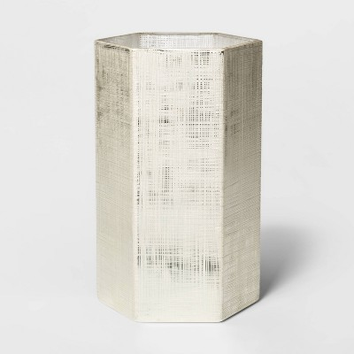 Glass Hurricane Pillar Candle Holder White - Threshold™