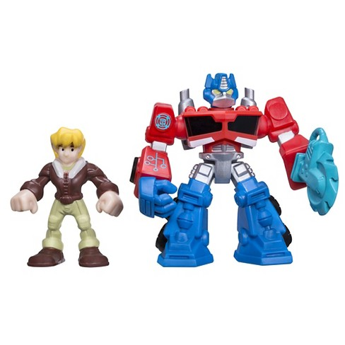 Playskool Heroes Transformers Rescue Bots Optimus Prime and Cody Burns Figure Pack - image 1 of 2