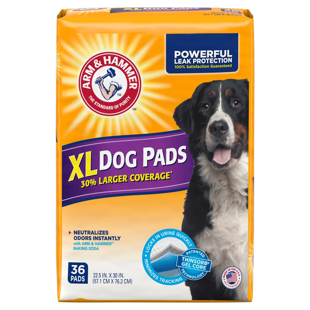 Arm & Hammer Absorbent Dog Pads and Puppy Training Pads - 36ct - XL