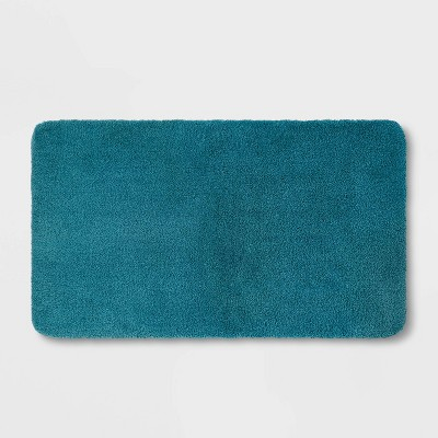 "34""x20"" Performance Nylon Bath Rug Turquoise - Threshold™"