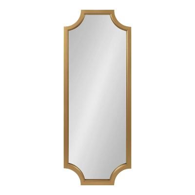 "18"" x 48"" Hogan Scallop Wall Mirror Gold - Kate & Laurel All Things Decor"