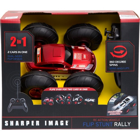 Sharper Image Remote Control Rc Flip Stunt Vehicle Target