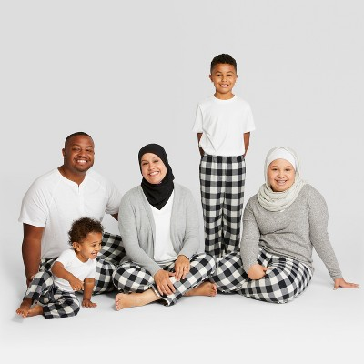 Matching White and black pajamas for the family