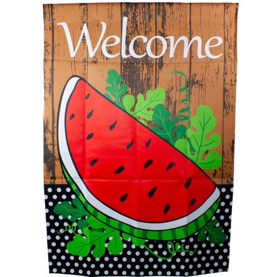 "Northlight Welcome Watermelon Slice Spring Outdoor House Flag 28"" x 40"""