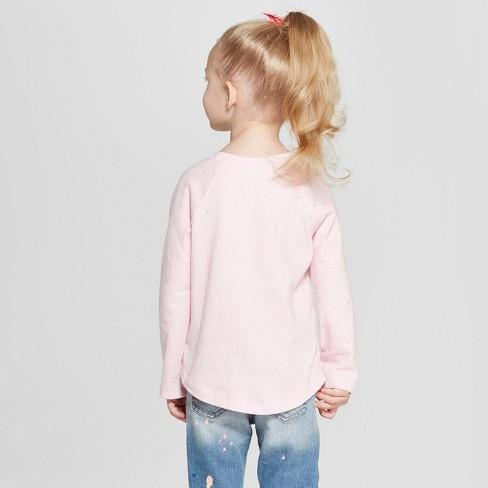 70762164fba Toddler Girls  Long Sleeve T-Shirt - Cat   Jack™ Light Pink Sparkle   Target