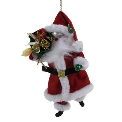 "Italian Ornaments 7.0"" Traditional Santa & Gift Sack Ornament Christmas Claus  -  Tree Ornaments"