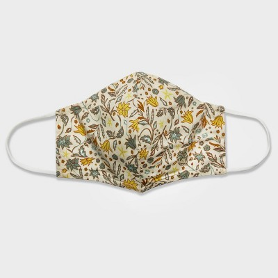 Women's Single Fabric Face Mask - Universal Thread™ Stucco Floral S/M
