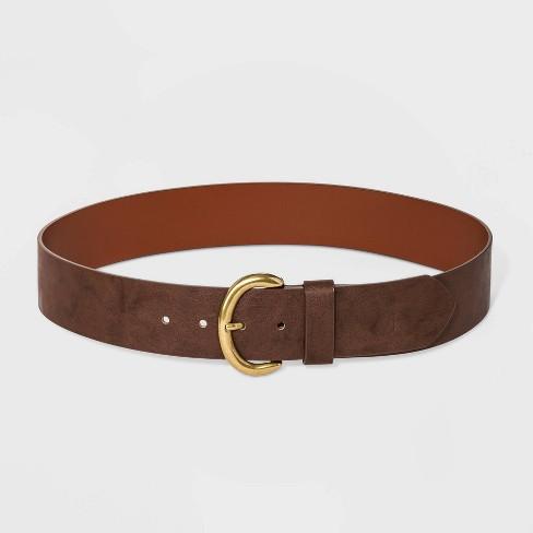 Women's Wide Belt - Universal Thread™ Brown - image 1 of 2