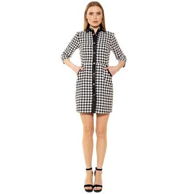 Alexia Admor Reaghan 3/4 Sleeve Button Down Dress
