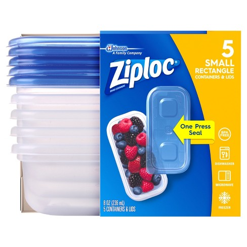 Ziploc Small Rectangle Containers - 5ct - image 1 of 5