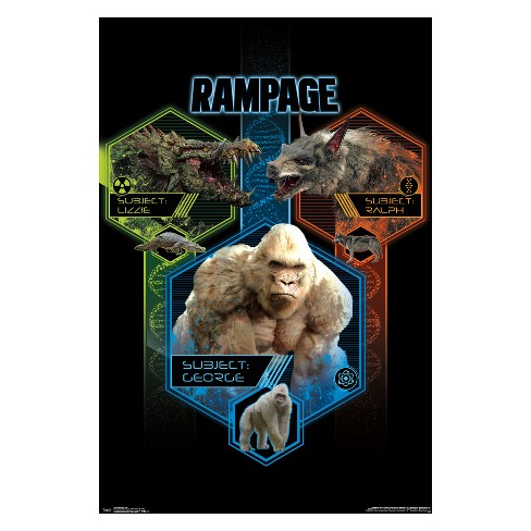 22 375 X 34 Rampage Trio Unframed Wall Poster Print Trends