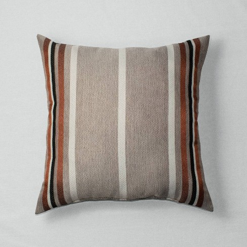 Harvest Stripe Throw Pillow Brown - Threshold™ - image 1 of 2