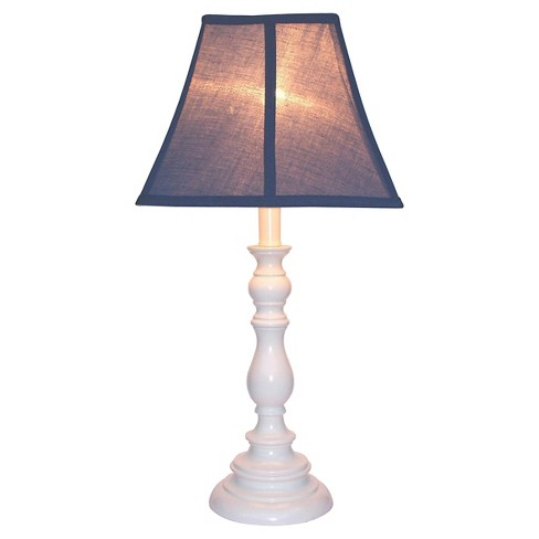 Creative Motions White Resin Table Lamp Navy Blue