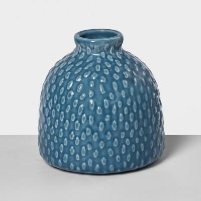 4.2  x 4  Stoneware Bud Vase Blue - Opalhouse™