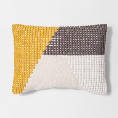 Yellow Texture Color Block Lumbar Throw Pillow - Project 62™
