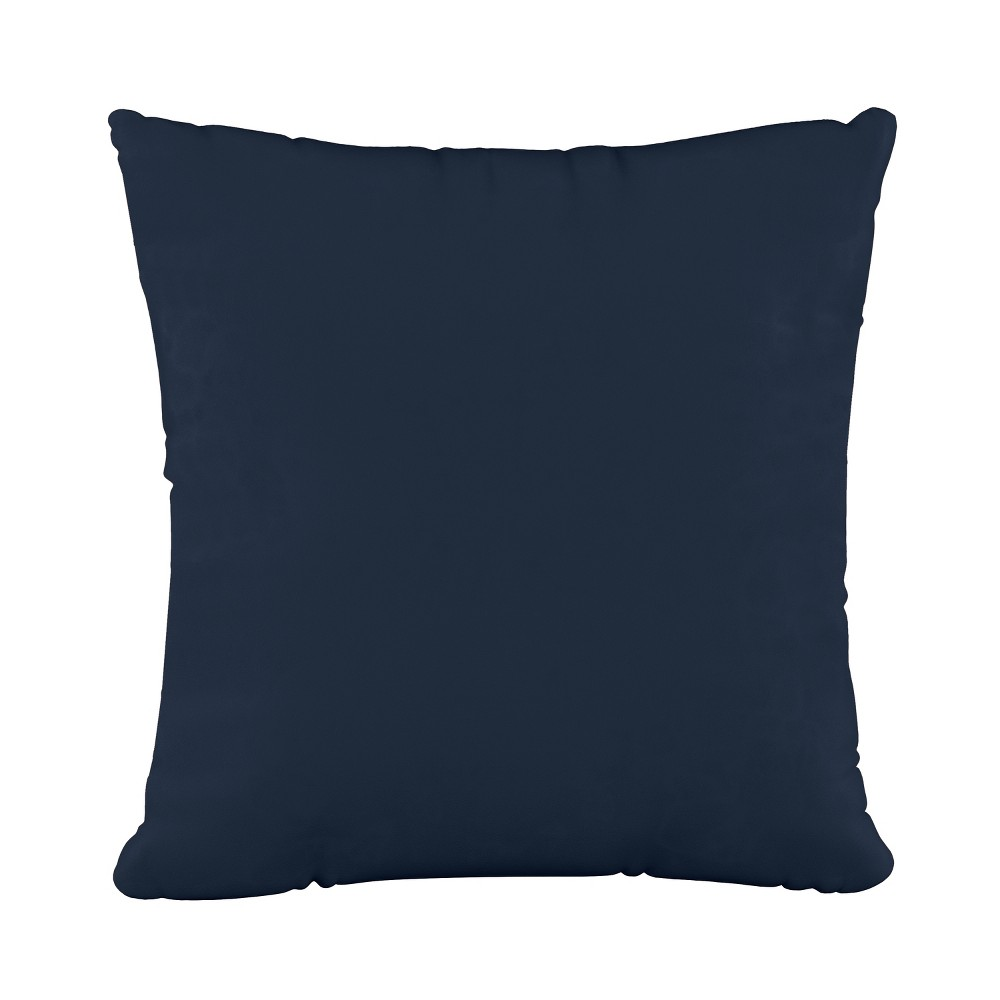 """Image of """"18""""""""x18"""""""" Polyester Fill Pillow with Welt in Velvet Navy - Cloth & Company"""""""