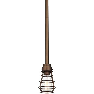 "Franklin Iron Works Oil Rubbed Bronze Mini Pendant Light 5"" Wide Rustic Farmhouse LED Edison Fixture Kitchen Island Dining Room"