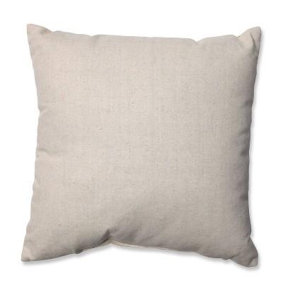 "Pillow Perfect Geometric Throw Pillow - 16.5""x16.5"" - Gold/Linen : Target"