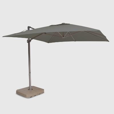 10u0027 Square Offset Patio Umbrella Ash Pole   Project 62™