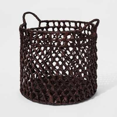 Dark Woven Cane Basket Large - Threshold™