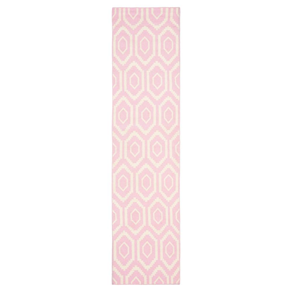 Buy Taza Dhurry Rug - Pink Ivory - (26x6) - Safavieh