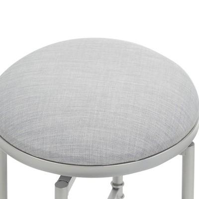 Scott Swivel Vanity Seat with Crossbar Silver - Silverwood