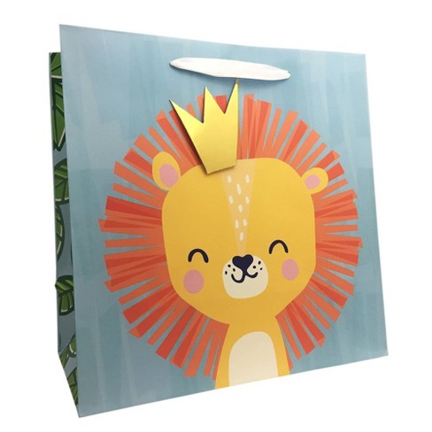 Square Little King Cub Gift Bag - Spritz™ - image 1 of 1