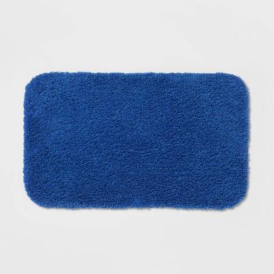 """20""""x34"""" Perfectly Soft Nylon Solid Bath Rug Bright Blue - Opalhouse™"""