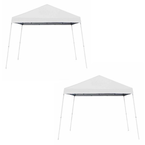 Z-Shade 10' x 10' Angled Leg Instant Shade Canopy Tent Shelter, White (2 Pack) - image 1 of 4