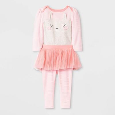 Baby Girls' 2pk Boutique Layette Set - Cloud Island™ Pink 0-3M