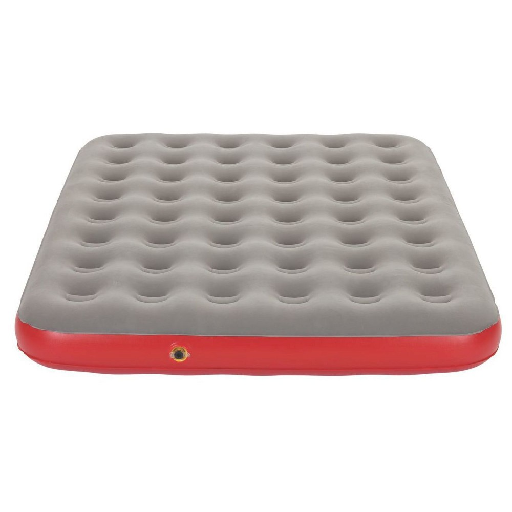 Coleman QuickBed Single High Airbed Queen - Gray/Red Get a restful night's sleep in your home or tent with a Coleman QuickBed Single High Airbed. Grab your favorite Coleman airbed pump, and you'll always be ready to inflate your bed, indoors or outdoors. Once you find the perfect firmness, the AirTight system will help keep it there, since it's factory-tested to be leak-free. The ComfortStrong coil construction provides better support, while a soft top offers relaxation for sleepers on the go. When you're ready to go, the Wrap 'n' Roll built-in storage system makes packing up simple until you're ready for your next adventure. Air Pump sold separately. Size: Queen. Color: Gray/Red. Gender: Unisex.