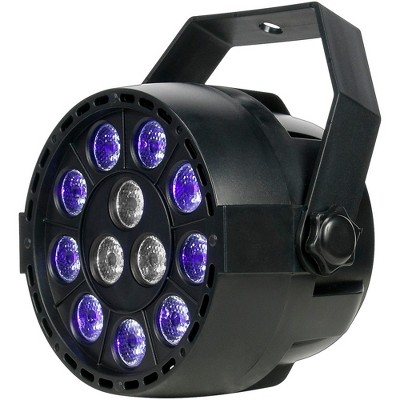 Eliminator Lighting Mini Par UVW LED Black Light with Strobe Black
