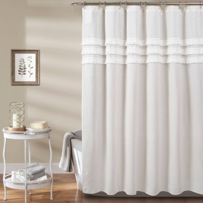 Ciel Tassel Shower Curtain White - Lush Décor