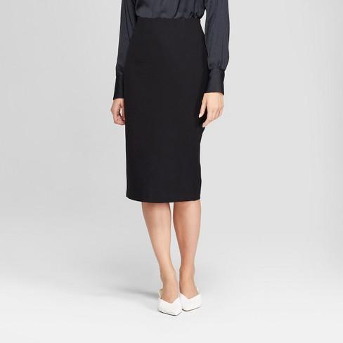 Women s Midi Pencil Skirt - Prologue™ Black   Target 665fd8eaf